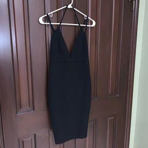 Lulu's Black Strappy Bodycon Dress